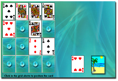 Cribbage Squares Solitare a challenging combination of two popular games.