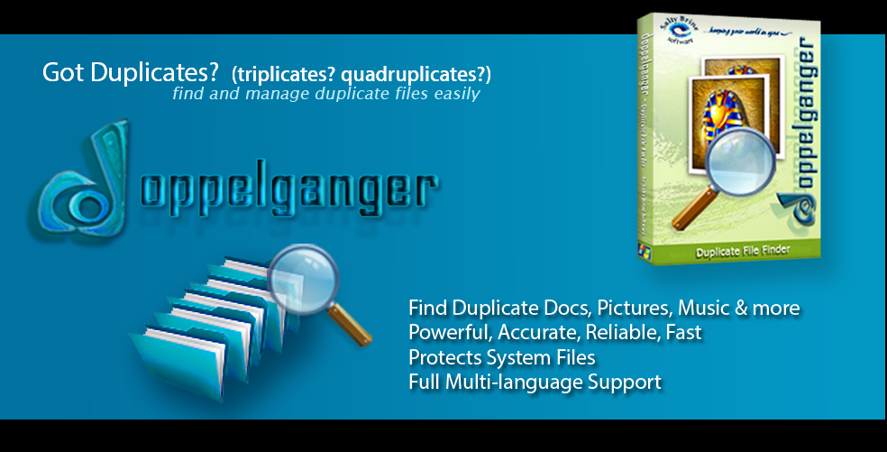 Locate and remove duplicate files using the Windows duplicate file finder, Doppelganger